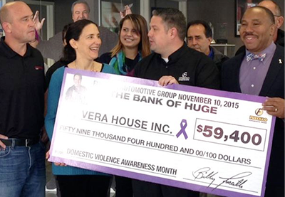 In 2015 Fuccillo Automotive Group increased their donation to the Vera House by 25%!