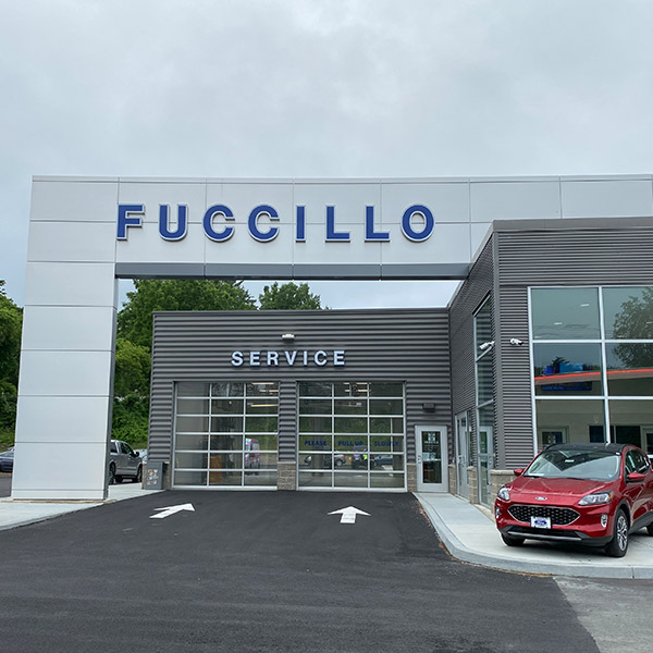 Fuccillo Service entry at the dealership