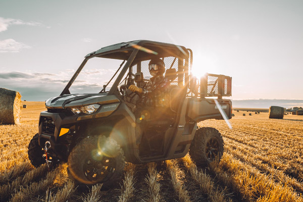 Off-road image in farm land