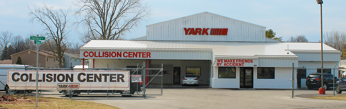 The Yark Collision Center Guarantee header